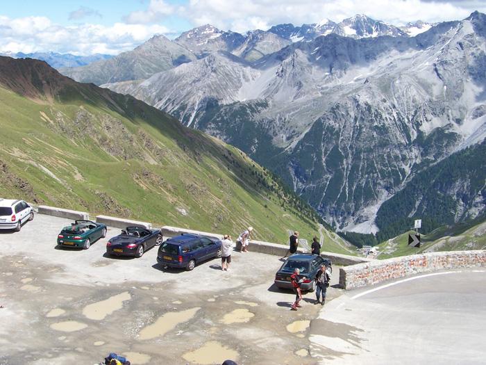 The old girl made it. Stelvio pass Switzerland