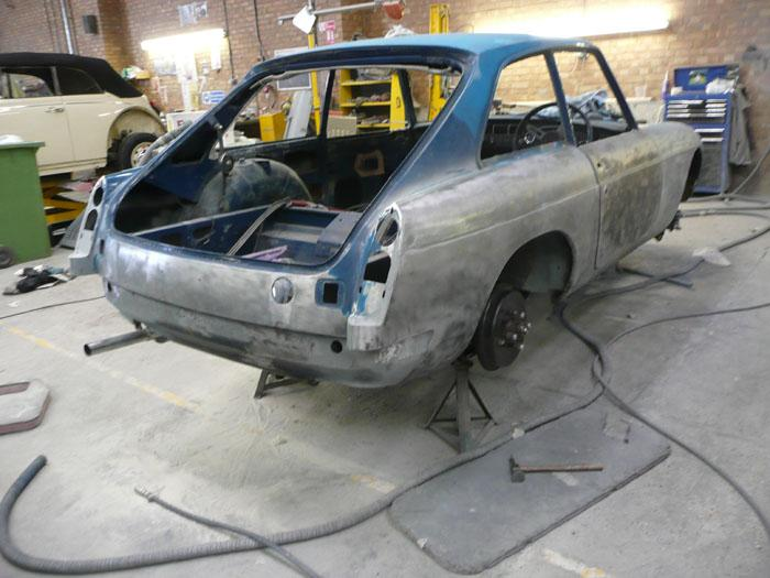 1973 Teal Blue GT under restoration