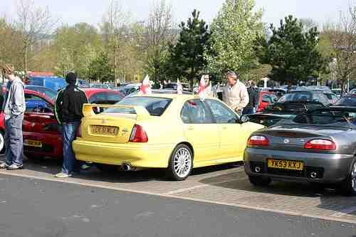 Pride of Longbridge 2009, my Trophy Yellows ZS 180 CK 51 WLA, Hopwood park services M42