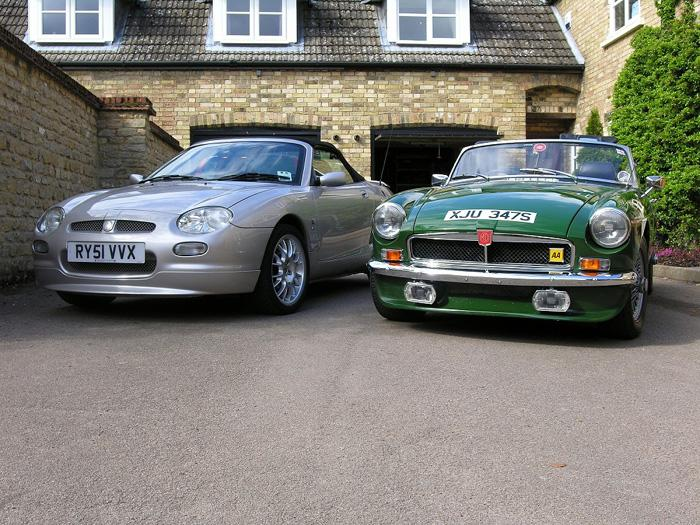Just bought my new to me MGF Freestyle - Had to take a photo of the pair of them before the B is sold!