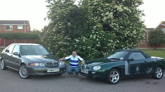 "My MG ZS 110 and my MGF 1.8 VVC ""Nicole""."