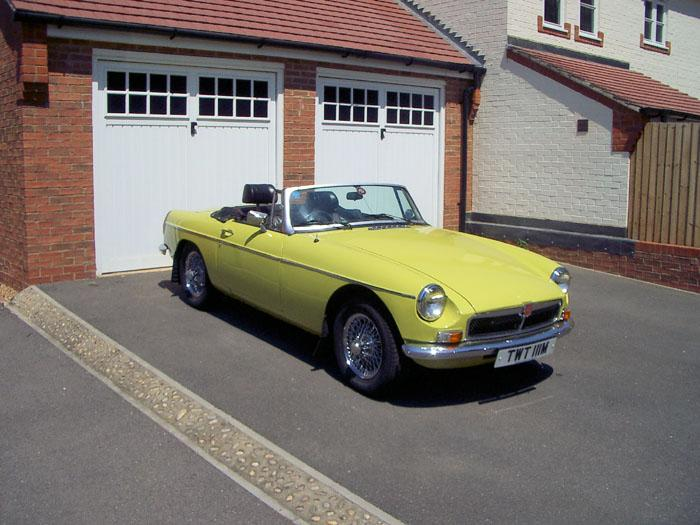 1974 Citron Yellow Roadster owned by me since 2002