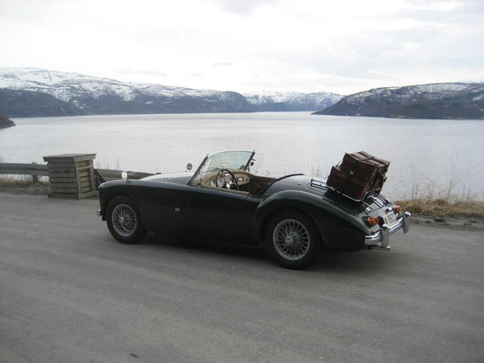 On a trip with our 1962 MGA 1600 Mk II in spring 2010