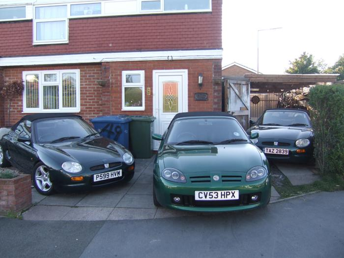 2 MGF's both sweet VVC's and an MGTF 160 in Le Mans Green