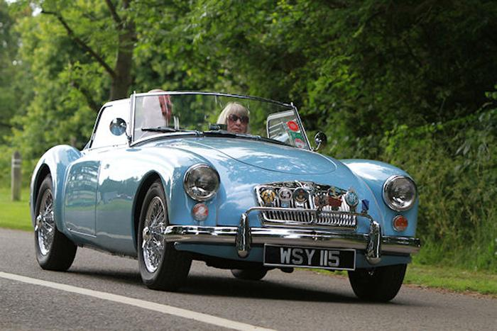1959 Iris Blue roadster