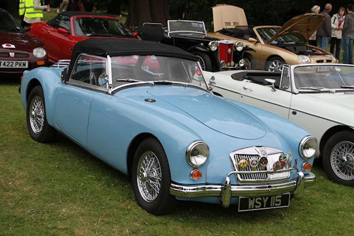 1959 Iris Blue MGA roadster