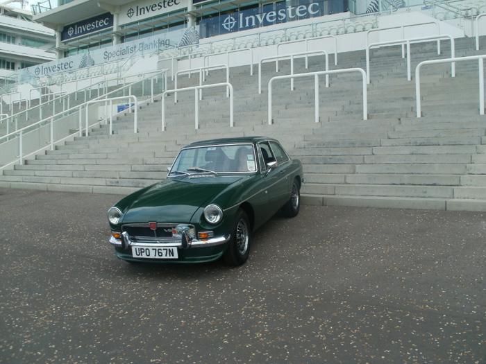 The star at Epsom racecourse