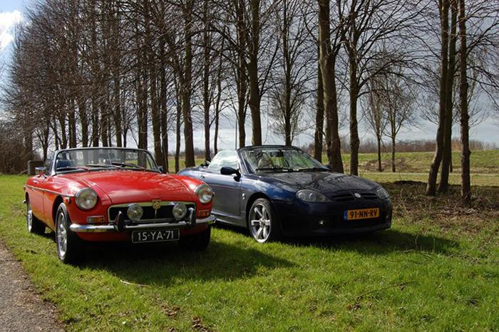 Nice MGTF next to our MGB