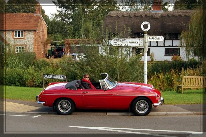 First proper outing in our newly aquired MGB Roadster. Taken at our local duckpond in the village
