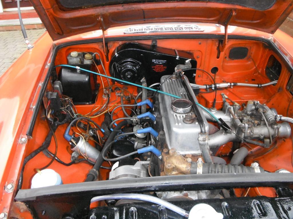 Engine baEngine bay Blaze 1973 Roadstery 1973 Roadster