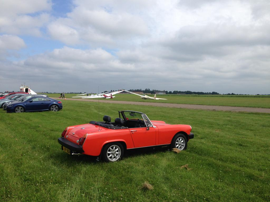My Midget at Nene Valley Gliding Club.