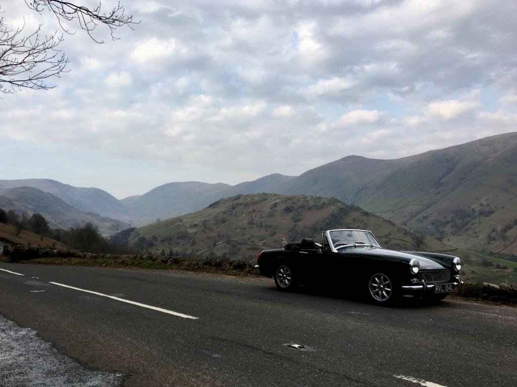 An evening spin up Kirkstone Pass, Lake District in the Midget