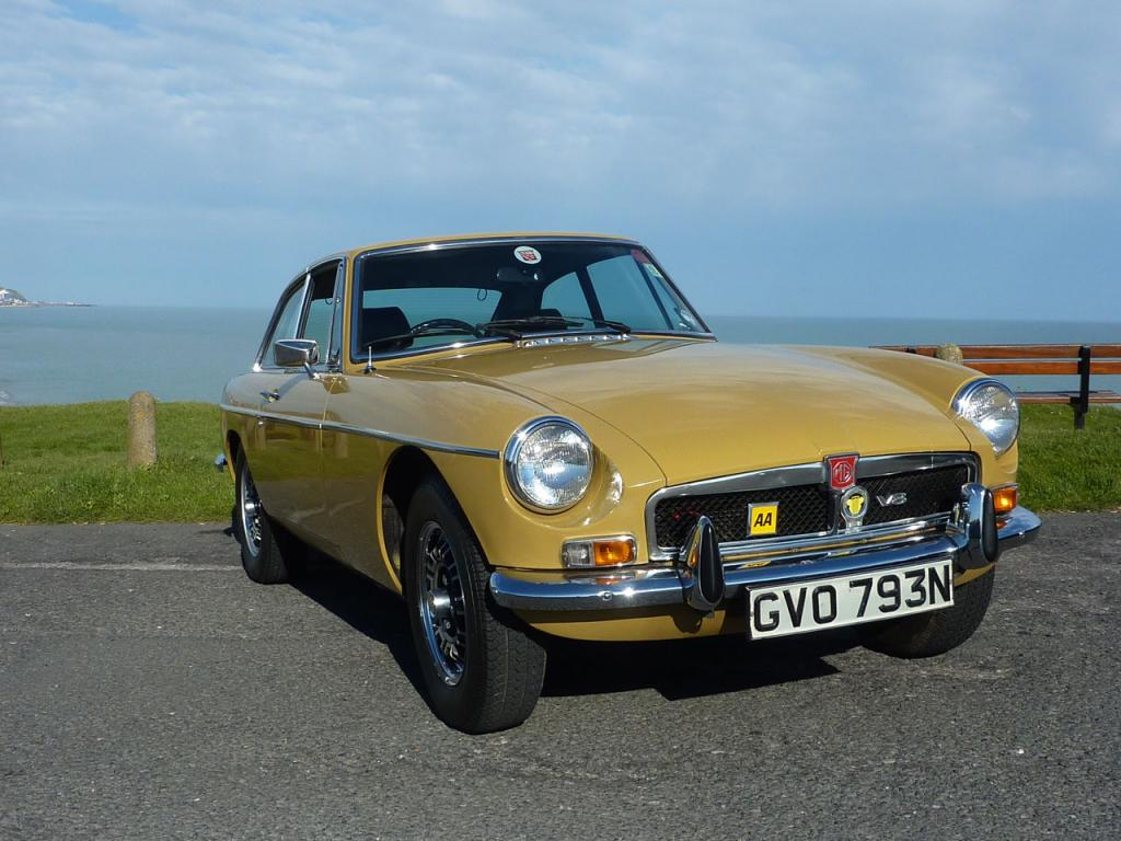 My MGB at Galey Hill,Bexhill-On-Sea